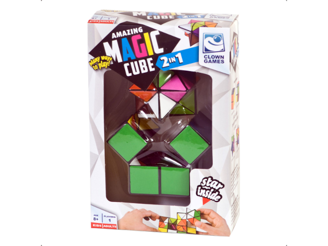 Magic Puzzle Cube 2 in 1